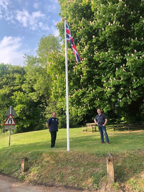 Tandridge Parish Council have erected the Flag Pole on Flag Pole Green